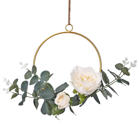 Floral Hoop Wreath Wall Decor - Urban Collective