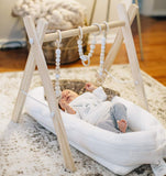 Foldable Wood Baby Gym with Teething Toys - Urban Collective