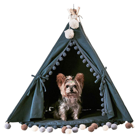 Grey Pet Teepee with Cushion Grey - Urban Collective