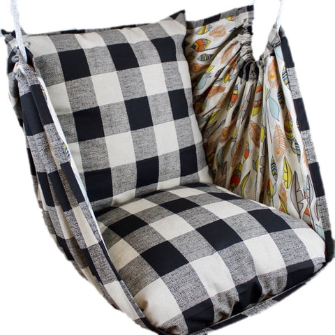 Buffalo Check Luxe Linen Hammock Chair - Urban Collective