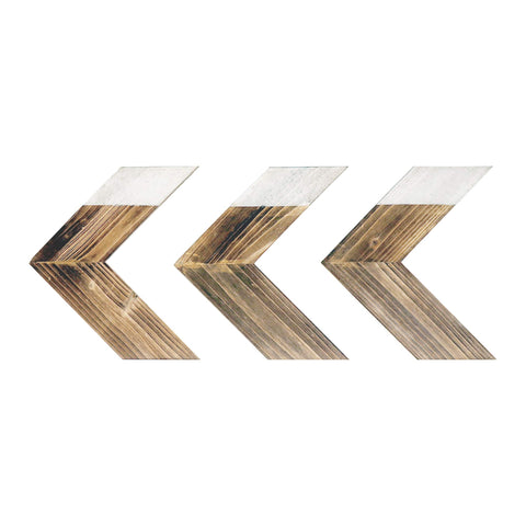 Rustic Wood Chevron Arrows - Set of 3 - Urban Collective