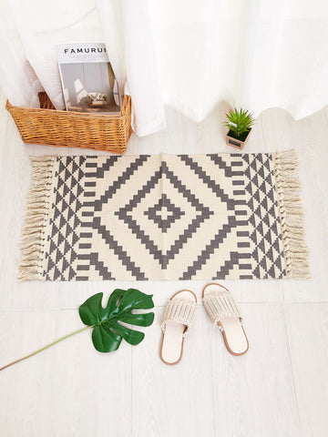 Woven Tassel Accent Rug - Urban Collective