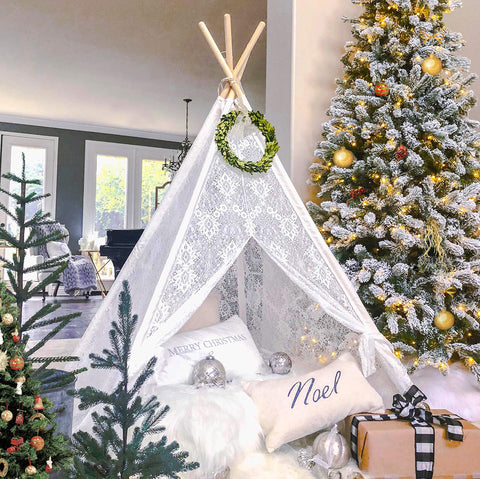 Kids Sheer Lace Teepee Tent - Urban Collective