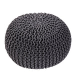 Handmade Round Knitted Pouf - Urban Collective