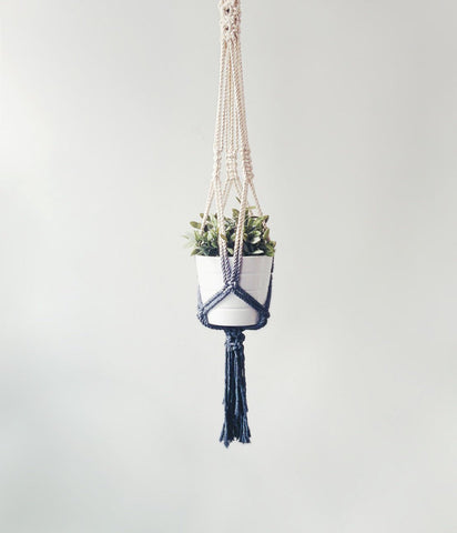 Dip Dyed Macrame Plant Hanger - Urban Collective