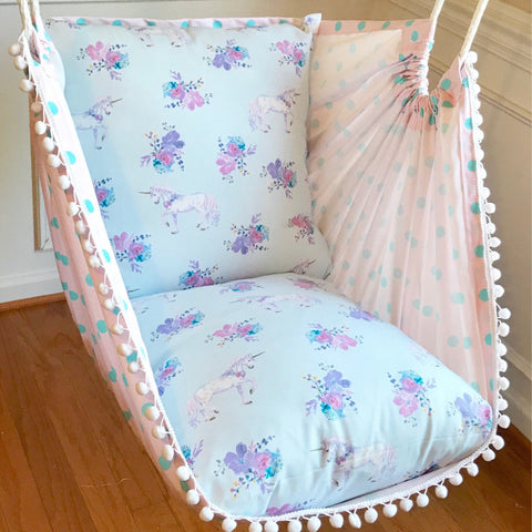Unicorn hammock chair