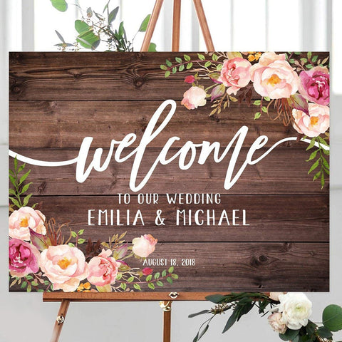 Rustic Personalized Wedding Sign - Urban Collective