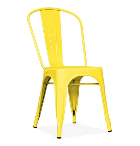 Tolix Style Dining Chair - Yellow - Reproduction