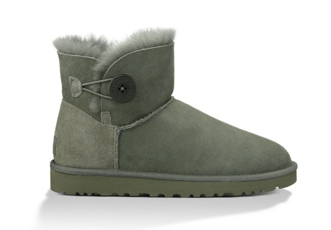 UGG Australia Womens Bailey Button Mini Grey