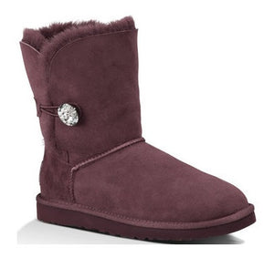 UGG Womens Bailey Button Bling Port