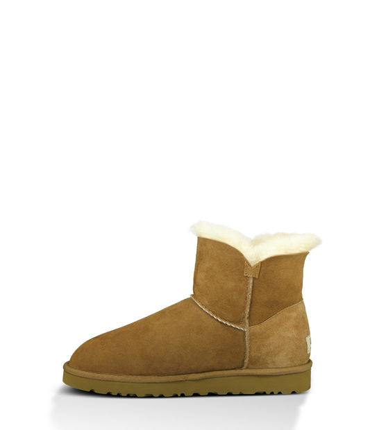 UGG Womens Mini Bailey Button II Chestnut