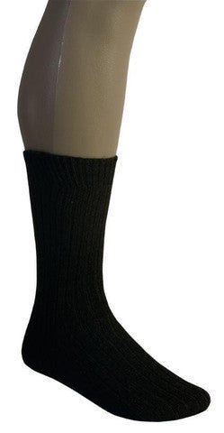 McDonald Possum Merino Rib Socks Black