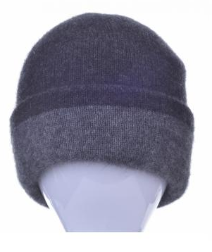 McDonald Possum Merino Reversible Beanie Pewter and Charcoal