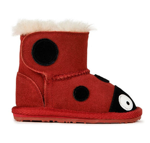 EMU Australia Little Walkers Lady Bird Red