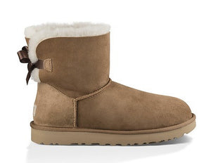 UGG Womens Mini Bailey Bow II Chestnut