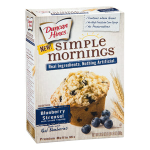 Duncan Hines Blueberry Streusel Premium Muffin Mix (610g)