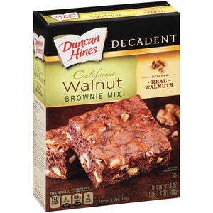 Duncan Hines Chocolate Lover's Walnut Brownies (499g)
