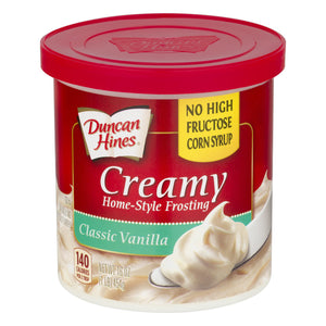 Duncan Hines Creamy Homestyle Classic Vanilla Frosting (454g)