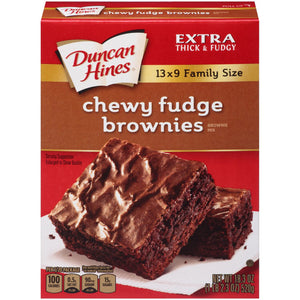 Duncan Hines Family Style Chewy Fudge Brownies, (595g)