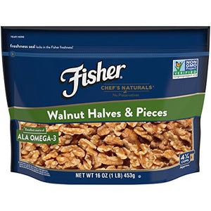 Fischer Chef's Naturals Walnuts Halves & Pieces (454g)