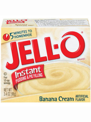Jell-O Banana Cream Instant Pudding & Pie Filling, (96g)
