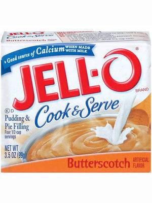 Jell-O Butterscotch Cook & Serve Pudding & Pie Filling (99g)