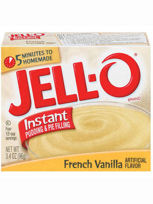 Jell-O French Vanilla Instant Pudding & Pie Filling, (96g)