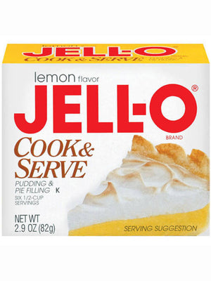 Jell-O Lemon Cook & Serve Pudding & Pie Filling (82g)