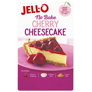 Jell-O No Bake Cherry Cheesecake Dessert Kit (505g)