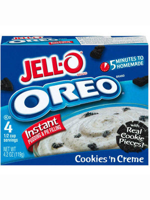 Jell-O Oreo Cookies 'N Cream With Cookie Pieces Instant Pudding & Pie Filling (119g)