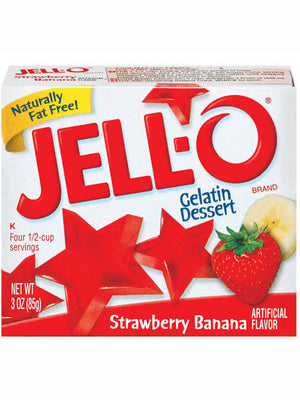 Jell-O Strawberry Banana Gelatin Dessert (85g)