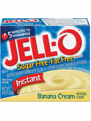Jell-O Sugar Free & Fat Free Banana Cream Instant Pudding & Pie Filling (26g)