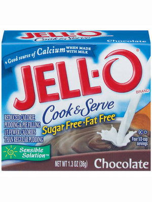 Jell-O Sugar Free & Fat Free Chocolate Cook & Serve Pudding & Pie Filling (37g)