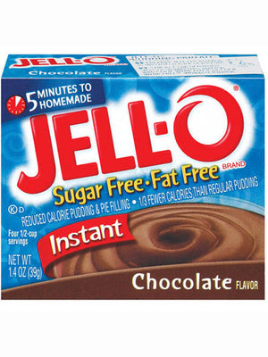 Jell-O Sugar Free & Fat Free Chocolate Instant Pudding & Pie Filling (40g)