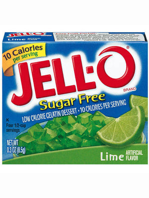 Jell-O Sugar Free Low Calorie Lime Gelatin Dessert (9g)