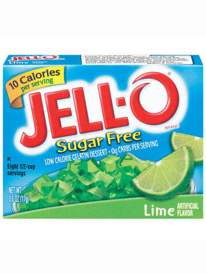 Jell-O Sugar Free Low Calorie Lime Gelatin Dessert (17g)