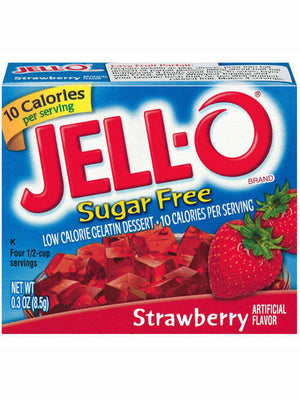 Jell-O Sugar Free Low Calorie Strawberry Gelatin Dessert (9g)