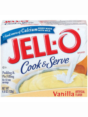 Jell-O Vanilla Cook & Serve Pudding & Pie Filling (130g)