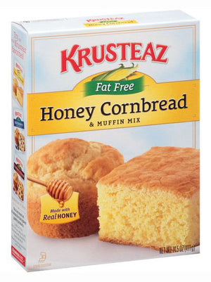 Krusteaz Fat Free Honey Cornbread Mix (411g)