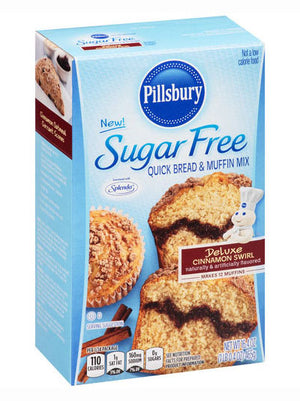 Pillsbury Sugar Free Deluxe Cinnamon Swirl Quick Bread & Muffin Mix (465g)