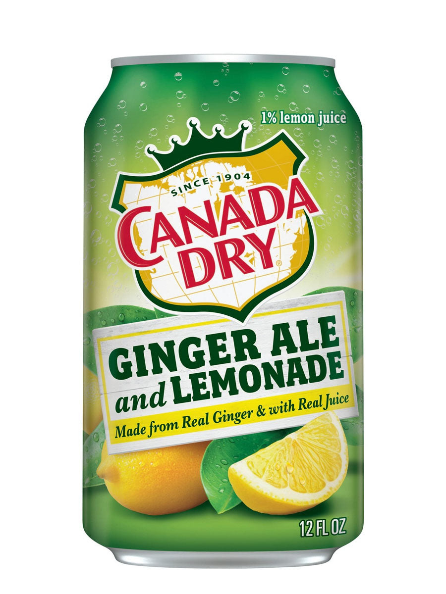 Canada Dry Ginger Ale and Lemonade (12x355ml)