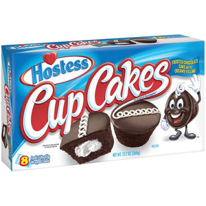 Hostess Cup Cakes Frosted Chocolate Cake with Creamy Filling (360g)