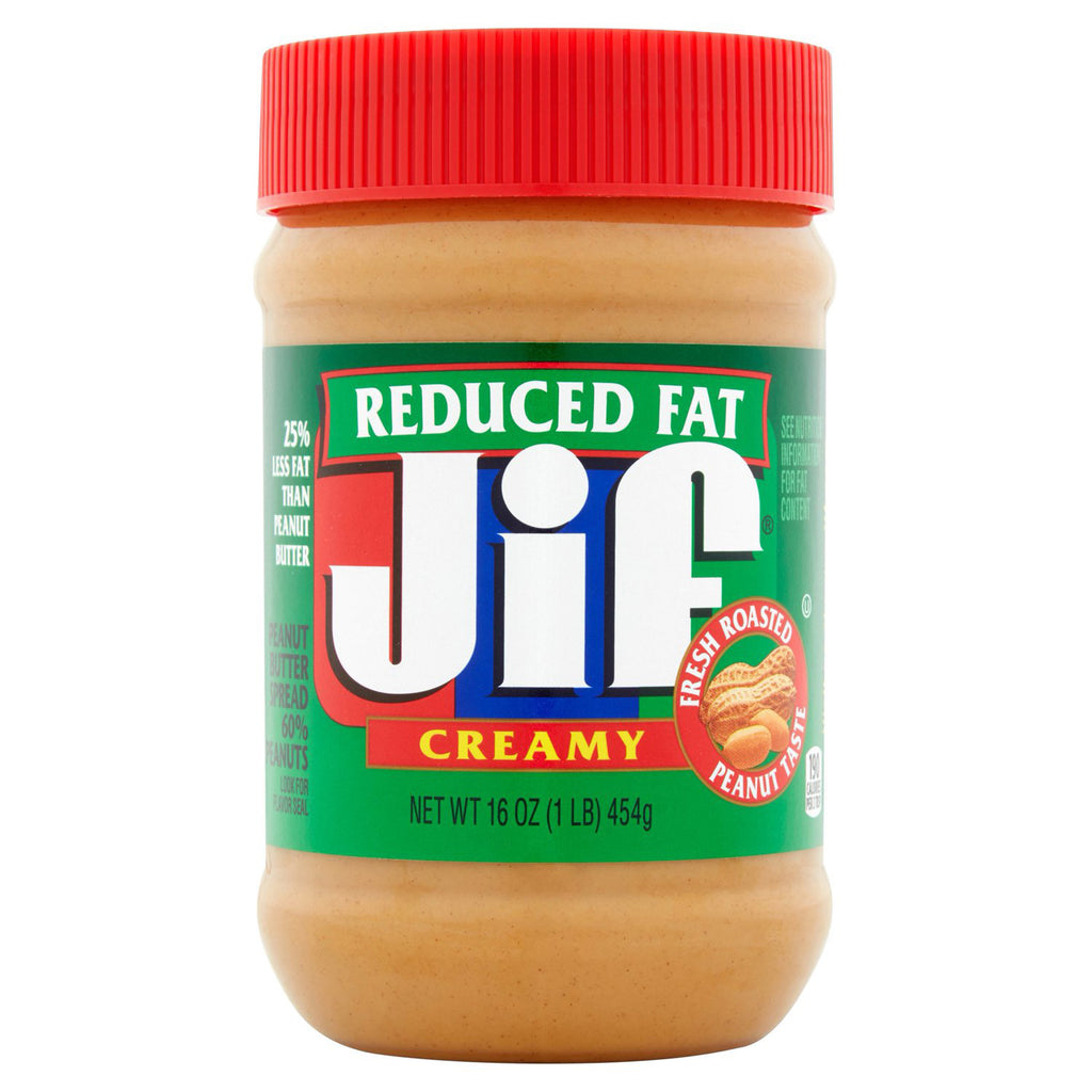 Jif Reduced Fat Creamy Peanut Butter (454g)
