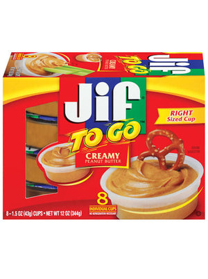 Jif To Go Creamy Peanut Butter cups (8 count) (340g)