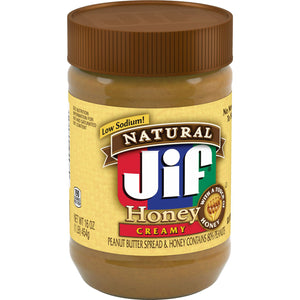 Jif Honey Creamy Peanut Butter (454g)