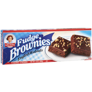Little Debbie Snacks Fudge Brownies With English Walnuts (369g)