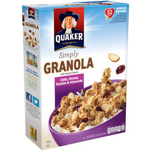 Quaker 100% Natural Granola with Raisins (794g)