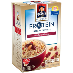 Quaker Protein Cranberry Almond Instant Oatmeal (371g)