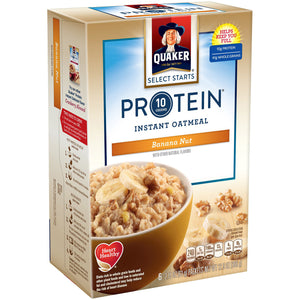 Quaker Protein Banana Nut Instant Oatmeal (366g)