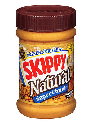 Skippy Natural Super Chunk Peanut Butter (425g)